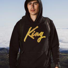 King Hoodie Premium Black Gold