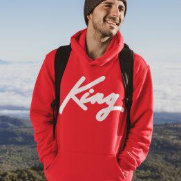 King Hoodie Premium Red