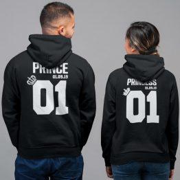 Prince Princess 01 met Datum Hoodies