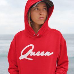Queen Hoodie Premium Red