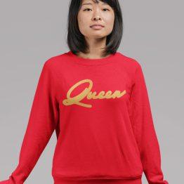 Queen Trui Premium Red Gold