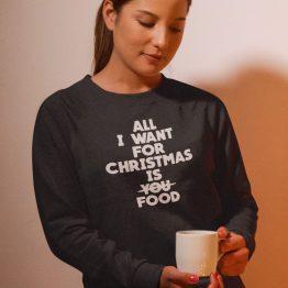 Zwarte Kersttrui All I want