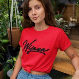 wijnen T-Shirt Red Black