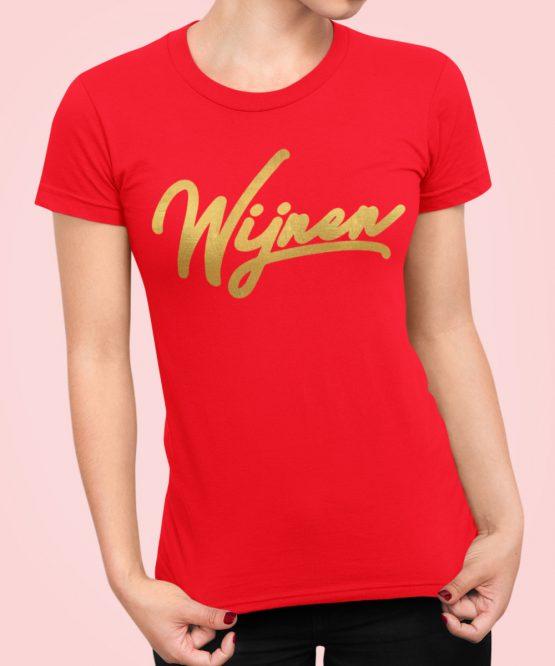 wijnen T-Shirt Red Gold