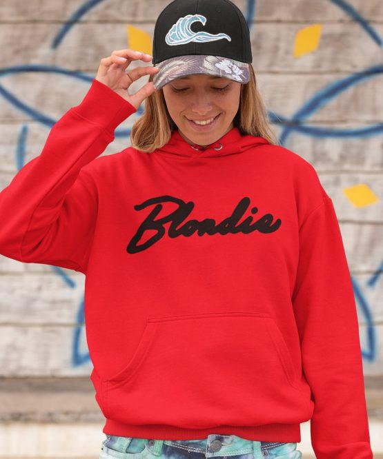 Blondie Hoodie Premium Red Black