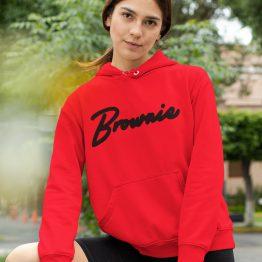 Brownie Hoodie Premium Red Black
