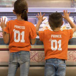 Koningsdag T-shirt Prince 01 Princess 01