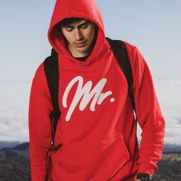 Mr Mrs Hoodie Premium Red 2