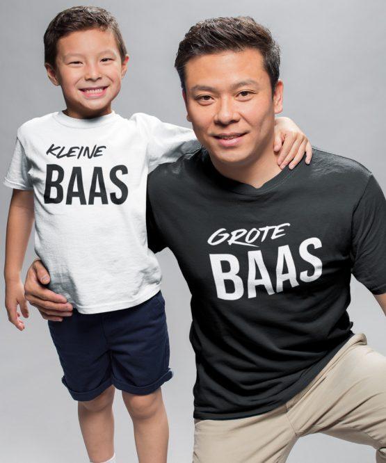 Vader Zoon T-Shirt Grote Kleine Baas