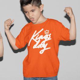 Koningsdag T-Shirt Kind Kingsday Kroon