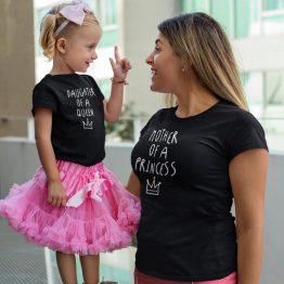 Moeder Dochter Shirts Princess Queen