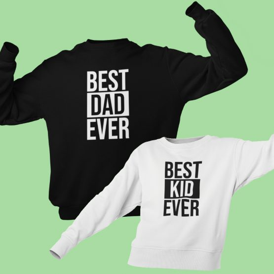 Vader Zoon Trui Best Dad Best Kid