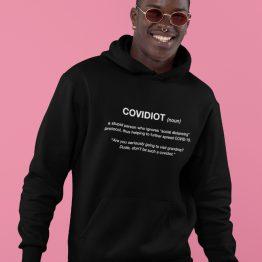Corona Hoodie Covidiot