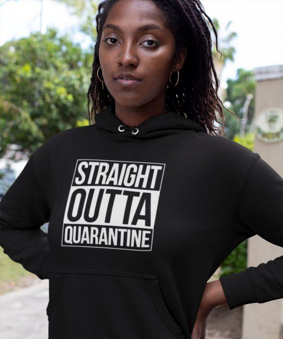 Corona Hoodie Straight Outta Quarantine