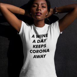 Corona T-Shirt A Wine A Day Wit