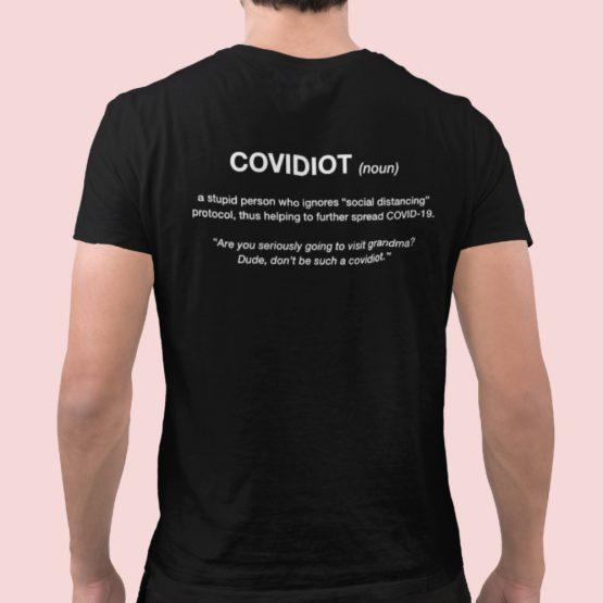 Corona T-Shirt Covidiot Back
