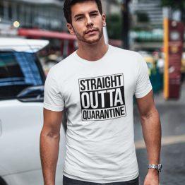 Corona T-Shirt Straight Outta Quarantine 2