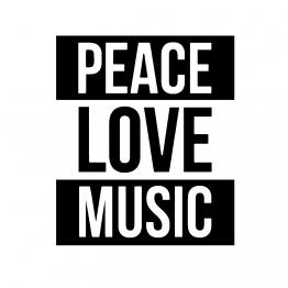 Festival Kleding Peace Love Music Opdruk