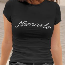 Festival Shirt Namaste zwart