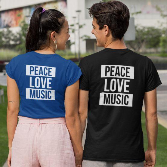 Festival Shirts Peace Love Music Back