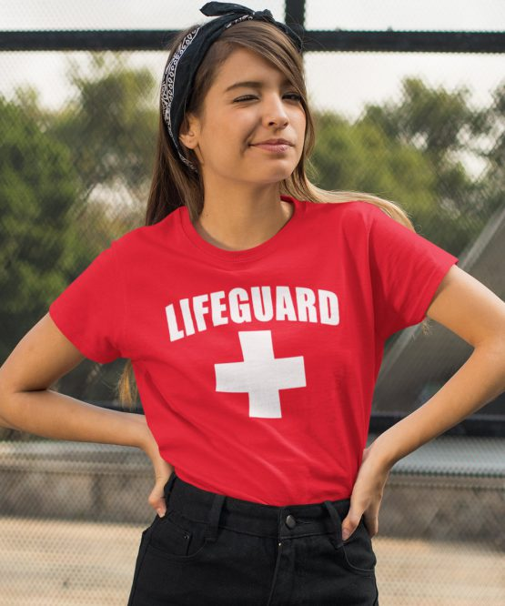 Festival T-Shirt Lifeguard Rood