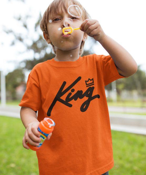 Koningsdag Shirt Kind King Black
