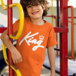Koningsdag Shirt Kind King White