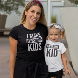 Moeder Dochter Shirts Awesome Kid