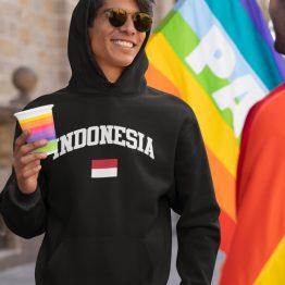 Indo Hoodie Indonesia Zwart