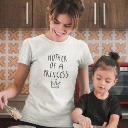 Moederdag T-Shirt Mother of a Princess