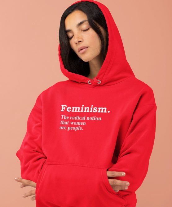 Feminisme Hoodie Definition Rood