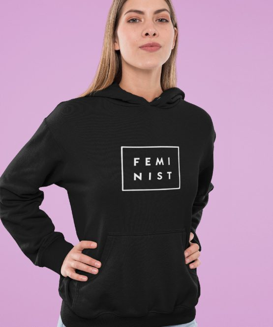 Feminisme Hoodie Feminist Black