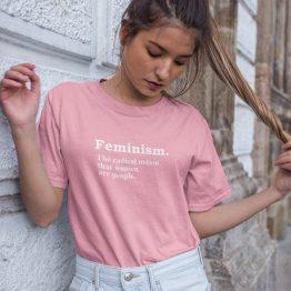 Feminist T-Shirt Definition Roze