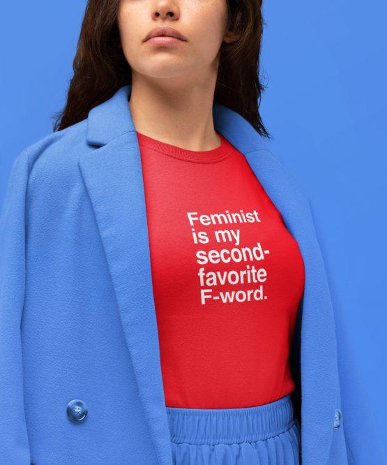 Feminist T-Shirt F-word Rood
