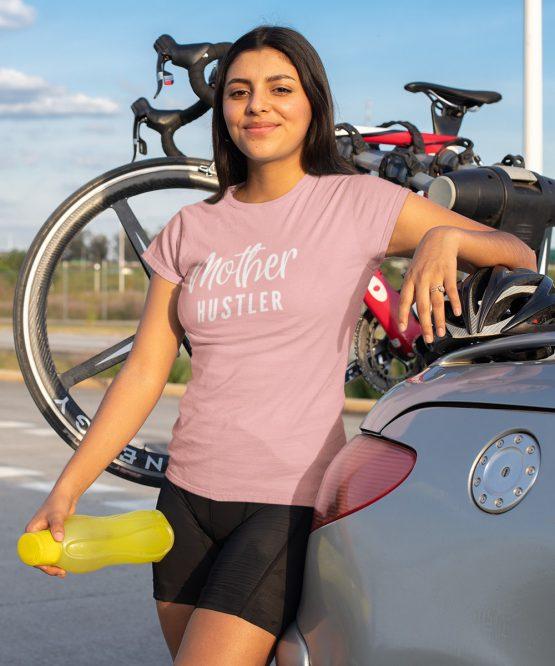 Moeder T-Shirt Mother Hustler Roze