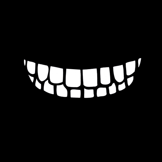 Mondkapje Smile Outline