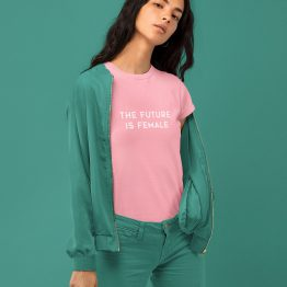 T-Shirt The Future Is Female Roze