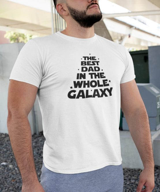 Vaderdag T-Shirt Best Dad Galaxy