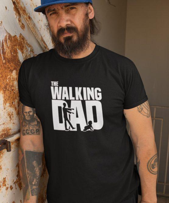 Vaderdag T-Shirt walking dad zwart