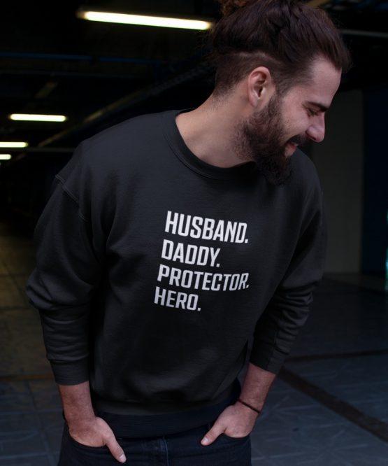 Vaderdag Trui Husband Daddy Protector Hero (1)
