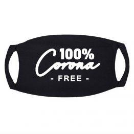 Zwart Mondkapje 100% Corona Free (1)