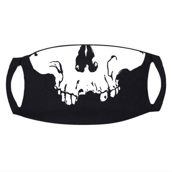 Zwart Mondkapje met Skull 3