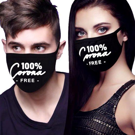 Zwart mondkapje 100% Corona Free