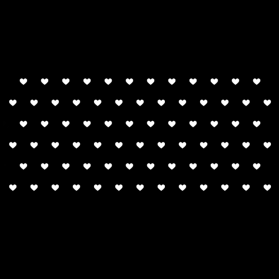 Zwarte mondkapjes hartjes