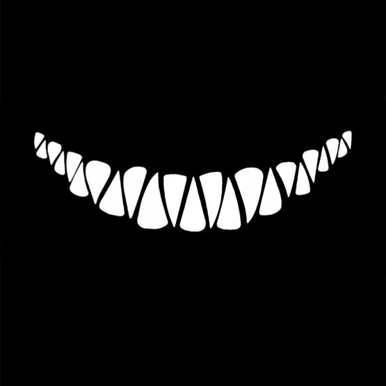 Mondkapje Opdruk Evil Teeth