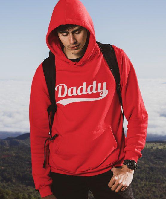Vaderdag Hoodie Daddy Rood