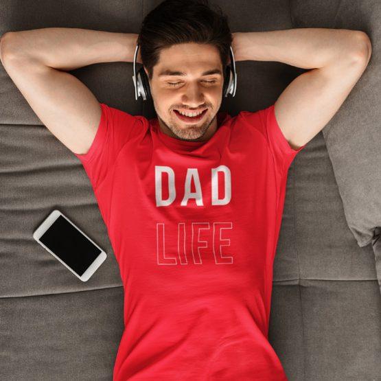 Vaderdag T-Shirt Dad Life Rood