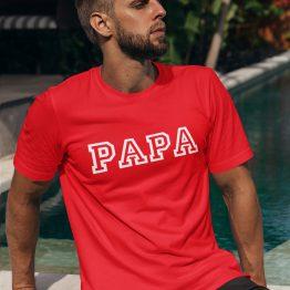 Vaderdag T-Shirt Papa Rood