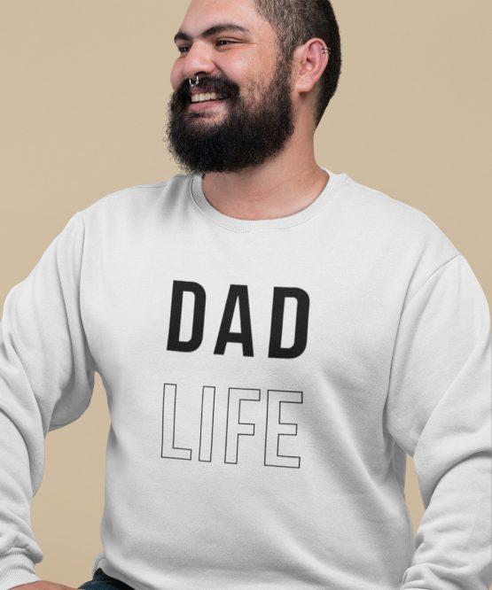 Vaderdag Trui Dad Life wit