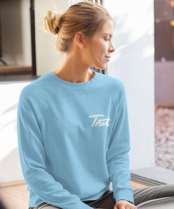 Trut Sweater Premium Sky Blue Chest